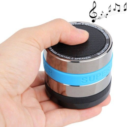 Enceinte portable Bluetooth kit mains libres SD bleu - Tout le stock - www.yonis-shop.com