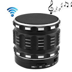 Mini Enceinte bluetooth kit mains libres micro SD USB métal Noir - Mini enceinte Bluetooth - www.yonis-shop.com