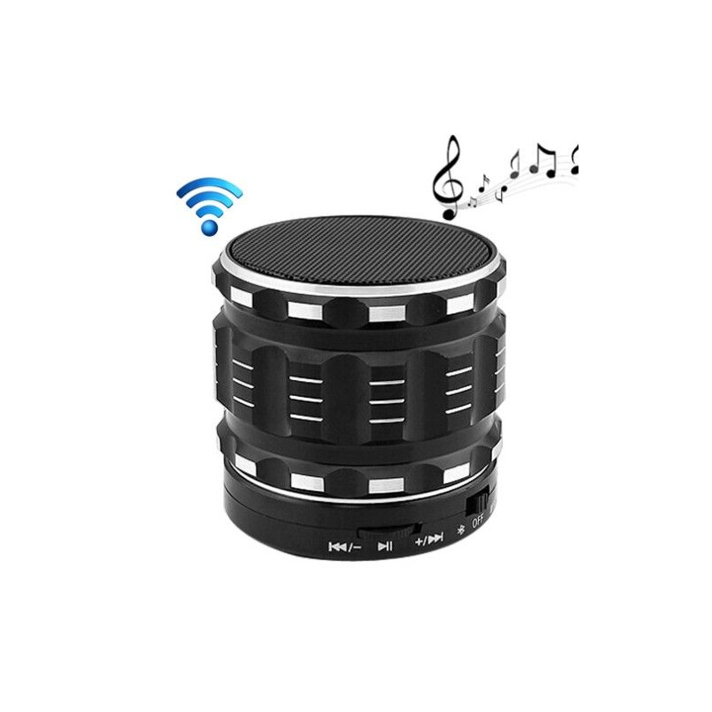 mini enceinte bluetooth kit mains libres micro sd usb m tal noir. Black Bedroom Furniture Sets. Home Design Ideas
