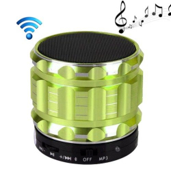 Mini Enceinte bluetooth kit mains libres micro SD USB métal Vert - Mini enceinte Bluetooth - www.yonis-shop.com