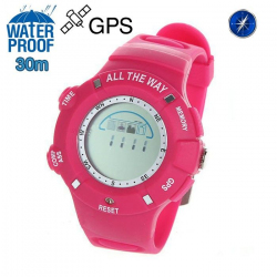 Montre GPS Waterproof boussole thermomètre mémoire 20 positions Rose - Montre GPS - www.yonis-shop.com
