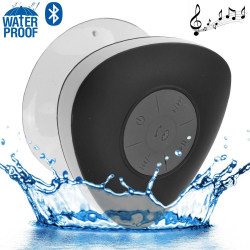 Mini enceinte Bluetooth triangle main libre ventouse waterproof noir - Enceinte waterproof - www.yonis-shop.com