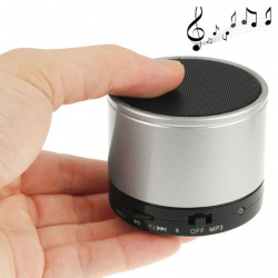 Enceinte Bluetooth universelle smartphone kit mains-libres Argent - Mini enceinte Bluetooth - www.yonis-shop.com