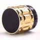 Mini Enceinte bluetooth kit mains libres micro SD USB métal Or - Enceinte Bluetooth - www.yonis-shop.com