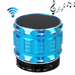 Mini Enceinte bluetooth kit mains libres micro SD USB métal Bleu - Mini enceinte Bluetooth - www.yonis-shop.com