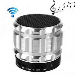 Mini Enceinte bluetooth kit mains libres micro SD USB métal Argent - Mini enceinte Bluetooth - www.yonis-shop.com