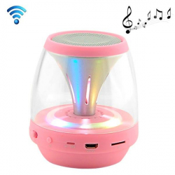 Enceinte portable sans fil Bluetooth LED lumineuse kit main libre Rose - Enceinte Bluetooth - www.yonis-shop.com