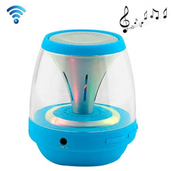 Enceinte portable sans fil Bluetooth LED lumineuse kit main libre Bleu - Mini enceinte Bluetooth - www.yonis-shop.com