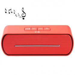 Enceinte sans fil Bluetooth kit main libre FM Micro SD USB Rouge - Enceinte Bluetooth - www.yonis-shop.com