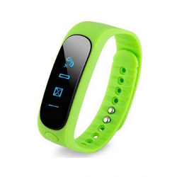 Bracelet intelligent Bluetooth sport montre connectée podomètre Vert - Bracelet connecté - www.yonis-shop.com