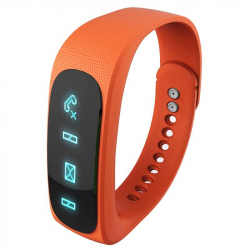 Bracelet intelligent Bluetooth sport montre connectée podomètre Orange - Bracelet connecté - www.yonis-shop.com