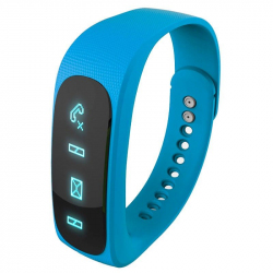 Bracelet intelligent Bluetooth sport montre connectée podomètre Bleu - Bracelet connecté - www.yonis-shop.com