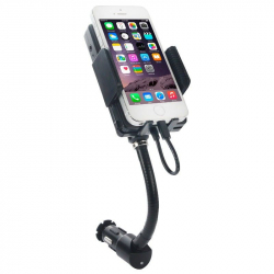 Support auto transmetteur FM holder kit main libre universel USB - Transmetteur fm iPhone - www.yonis-shop.com