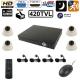 Kit de surveillance 4 caméra Sony 1/4 420 TVL 24 LED enregistreur IP - Kit vidéosurveillance - www.yonis-shop.com