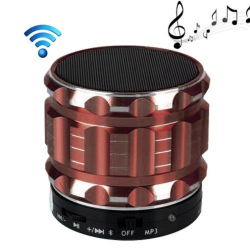 Mini Enceinte bluetooth kit mains libres micro SD USB métal Marron