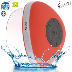 Mini enceinte Bluetooth triangle main libre ventouse waterproof rouge - Enceinte waterproof - www.yonis-shop.com