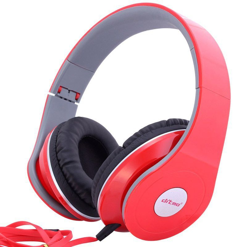 casque nomade anti bruit casque audio arceau isolation phonique rouge. Black Bedroom Furniture Sets. Home Design Ideas