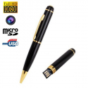 Stylo camera espion Full HD 1080p mini appareil photo Micro SD USB Stylo caméra YONIS