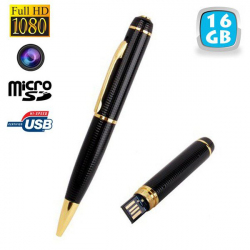Stylo camera espion Full HD 1080p mini appareil photo Micro SD 16Go - Stylo espion - www.yonis-shop.com