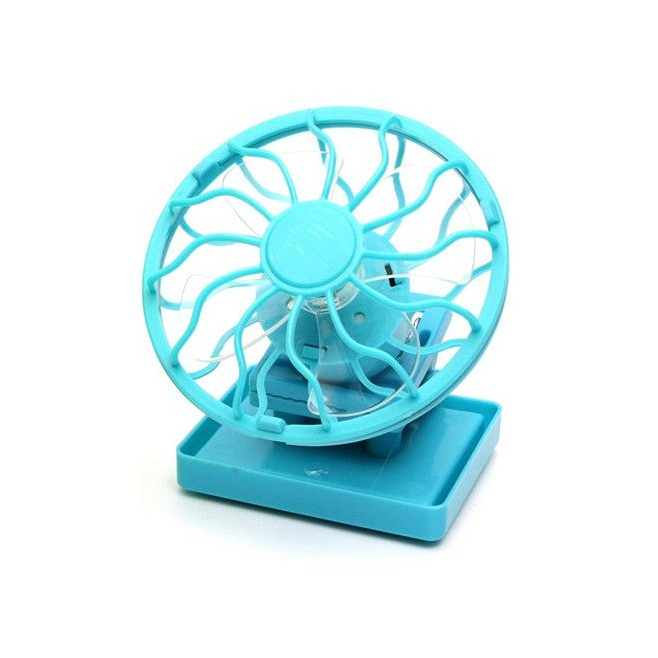 mini ventilateur solaire portable avec clip casquette bleu. Black Bedroom Furniture Sets. Home Design Ideas