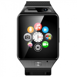 Smartwatch Bluetooth appareil photo montre téléphone connectée Noir Montre connectée / Smartwatch YONIS