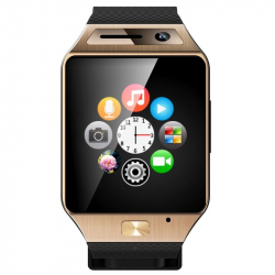 Smartwatch Bluetooth appareil photo montre téléphone connectée Or - Montre connectée / Smartwatch - www.yonis-shop.com