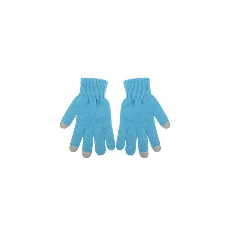 gants tactiles pour smartphones tablettes bleu 3 doigts. Black Bedroom Furniture Sets. Home Design Ideas