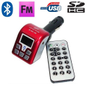Transmetteur FM Bluetooth USB carte SD kit main libre voiture - www.yonis-shop.com