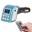 Bluetooth Handfree Kit + Car MP3 Player Wireless FM Modulator Transmitter with LCD Display, Support SD / MMC Card(Blue) - Tou...