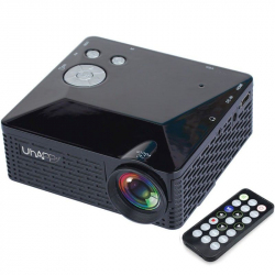 Uhappy U18 60LM Home Theater 320*240 Mini Projector with Remote Control, Support HDMI + USB + SD + AV + VGA(Black) - Tout le ...
