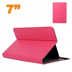 Housse universelle tablette 7 pouces support étui ajustable Rose