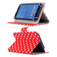 Housse universelle tablette tactile 7 pouces Rouge à pois blancs - Housse tablette - www.yonis-shop.com