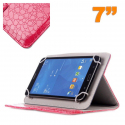 Housse universelle simili peau crocodile tablette 7 pouces Magenta - Housse tablette - www.yonis-shop.com