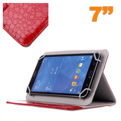 Housse universelle simili peau crocodile tablette 7 pouces Rouge - Housse tablette - www.yonis-shop.com