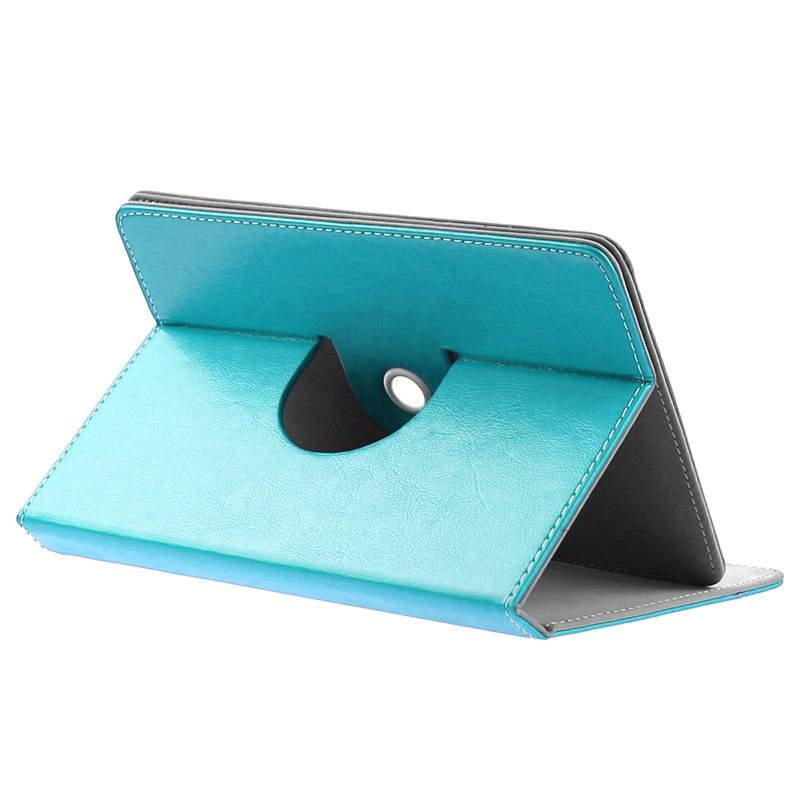etui protection tablette tactile 7 pouces simili cuir 360 bleu. Black Bedroom Furniture Sets. Home Design Ideas
