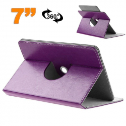 Etui protection tablette tactile 7 pouces simili cuir 360° Violet