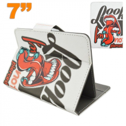 Housse universelle tablette 7 pouces support design rock and roll - Housse tablette - www.yonis-shop.com