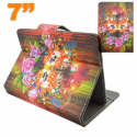 Housse tablette 7 pouces universelle support carnaval masque fleuri - Housse tablette - www.yonis-shop.com
