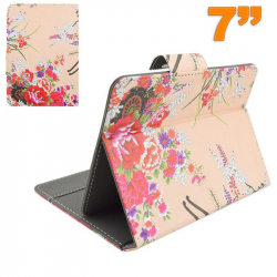 Housse universelle tablette 7 pouces étui ajustable support pivoine - Housse tablette - www.yonis-shop.com