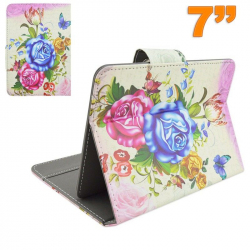Housse tablette tactile 7 pouces universelle étui ajustable floral - Housse tablette - www.yonis-shop.com