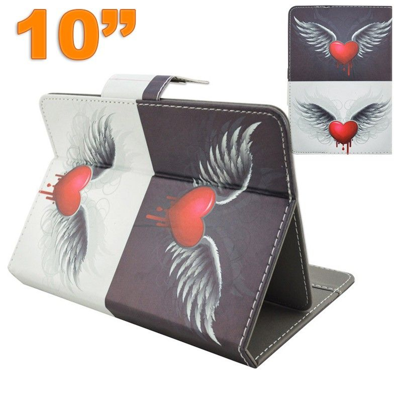 Housse universelle 10 pouces tui support coeur ailes d 39 ange for Housse universelle tablette 10 pouces