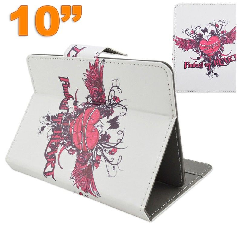 housse tablette 10 pouces universelle support coeur graffiti. Black Bedroom Furniture Sets. Home Design Ideas