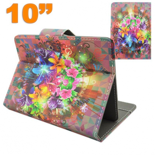 Housse universelle tablette 10 pouces support motif floral for Housse universelle tablette 10 pouces