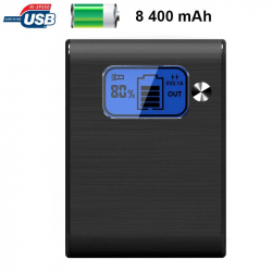 Batterie externe 8400mAh double port USB écran digital LED Gris - Batterie externe - www.yonis-shop.com