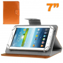 Housse universelle tablette tactile 7 pouces support ajustable Orange - Housse tablette - www.yonis-shop.com