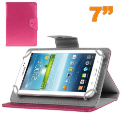 Housse universelle tablette tactile 7 pouces support ajustable Rose - Housse tablette - www.yonis-shop.com