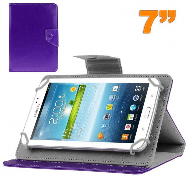 Housse universelle tablette tactile 7 pouces support ajustable Violet - Housse tablette - www.yonis-shop.com