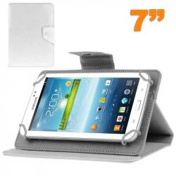 Housse universelle tablette tactile 7 pouces support ajustable Blanc