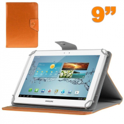 Housse universelle tablette 9 pouces support étui ajustable Orange