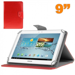 Housse universelle tablette 9 pouces support étui ajustable Rouge - Housse tablette - www.yonis-shop.com